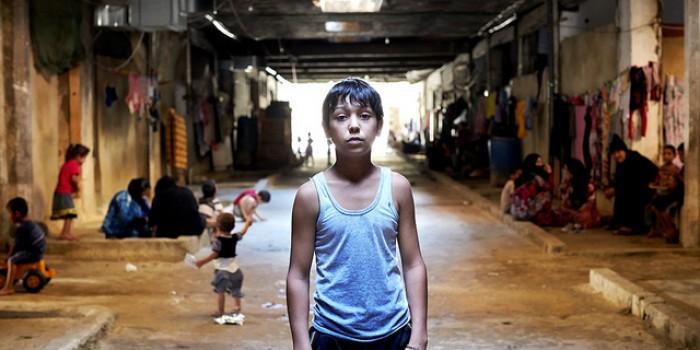 A refugee boy