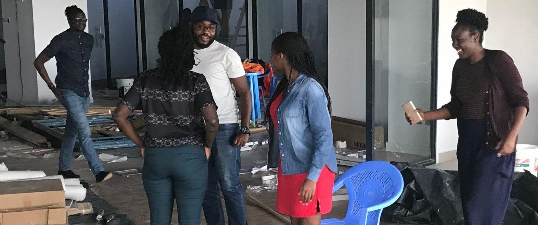 ThinkPlace Kenya staff moving into the new Nairobi studio