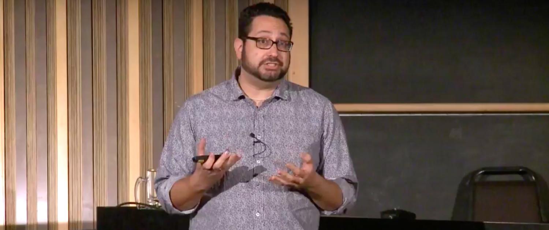 Darren Menachemson talking at TEDxCanberra Salon