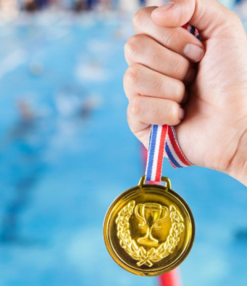 Gold Medal in a Swimming Race